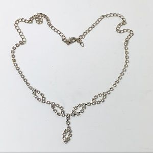 Jewelry - Vintage Inspired Crystal Rhinestone Necklace Prom